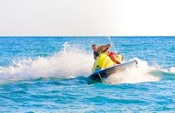 Man on a jet ski. On the sea Royalty Free Stock Photos