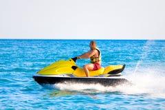 Man on jet ski. In summer time Royalty Free Stock Photos