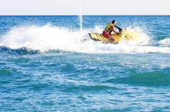 Man on jet ski. In summer Stock Image