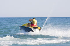 Man on jet ski. In summer Royalty Free Stock Photos