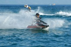 Man on jet ski Stock Image