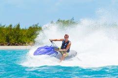 Man on Jet Ski. Having fun in Ocean Royalty Free Stock Image