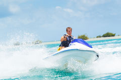 Man on Jet Ski. Having fun in Ocean Royalty Free Stock Photos
