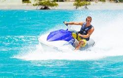 Man on Jet Ski. Having fun in Ocean Stock Photos