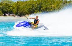 Man on Jet Ski. Having fun in Ocean Royalty Free Stock Images