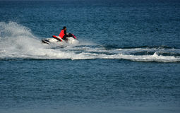Man on Jet Ski Stock Images