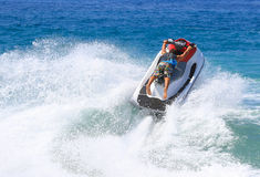 Man on jetski jump Stock Photography