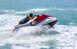 Man on jetski jump Royalty Free Stock Photography