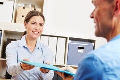 Man at job application interview Stock Photos