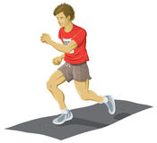 Man Jogging. A colour illustration of a man running Stock Images