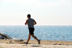 Man jogging Stock Photography