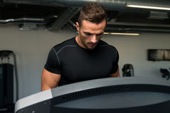 Man Jogging In A Gym Stock Photography