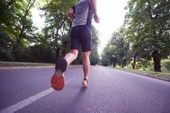 Man jogging Royalty Free Stock Photography