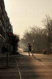 Man jogging in the morning in Berlin Royalty Free Stock Photo