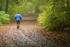 Man jogging Stock Photo