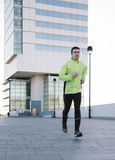 Man jogging outdoor city Stock Image