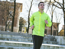Man jogging outdoor Royalty Free Stock Images