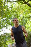 Man jogging outdoors Royalty Free Stock Photos