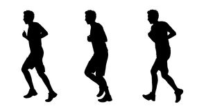 Man jogging silhouettes set 1 Royalty Free Stock Image