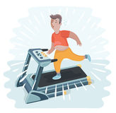 Man jogging on a treadmill Royalty Free Stock Image