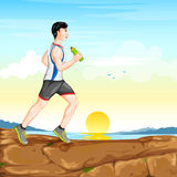 Man jogging for wellness Royalty Free Stock Images