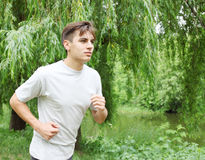 Man jogging Stock Photography
