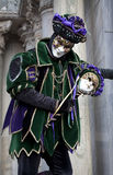 Man in joker costume at Venice Carnival 2011 Stock Photography