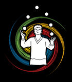 A man juggling balls Royalty Free Stock Photography
