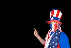 Man on July fourth Royalty Free Stock Photography