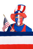 Man on July fourth Royalty Free Stock Image