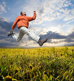 Man jump Royalty Free Stock Image