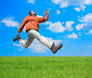 Man jump Royalty Free Stock Photography
