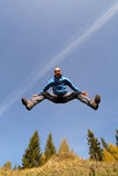 Man jump on blue sky Stock Photography