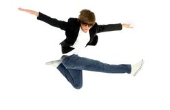 Man jumping Royalty Free Stock Photography