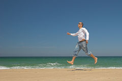 Man jumping Royalty Free Stock Photos