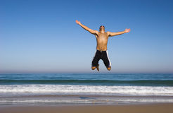 Man jumping Royalty Free Stock Photo