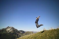 Man is jumping Stock Photos