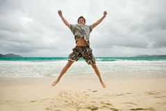 Man jumping Royalty Free Stock Images
