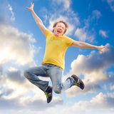 Man jumping Stock Photography