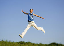 Man jumping Stock Image