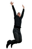 Man jumping in the air Stock Photo