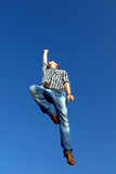 Man jumping in air Royalty Free Stock Photography