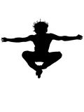 Man jumping and dancing Stock Images