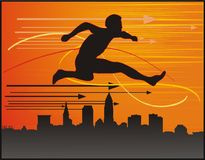 Man jumping illustration Royalty Free Stock Photos