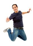 Man jumping isolated Stock Image