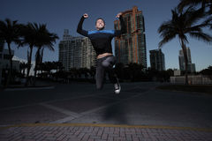 Man jumping for joy. Handsome young man jumping for joy Stock Images