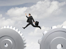 Man jumping Stock Image
