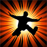 Man jumping out royalty free illustration