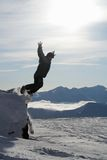 Man jumping from rock Royalty Free Stock Photo