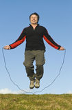 Man jumping rope. Stock Photo